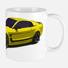 mustang drawing yellow Mug