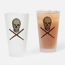 skull and stick bones Drinking Glass