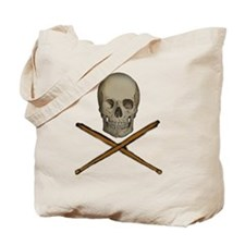 skull and stick bones Tote Bag