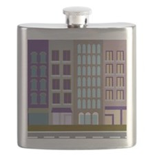 city apartment facade Flask