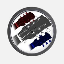 red white and blue headstock Wall Clock