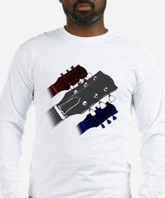 red white and blue headstock Long Sleeve T-Shirt
