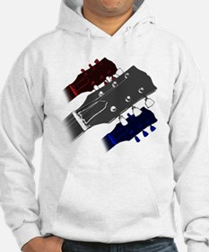 red white and blue headstock Hoodie