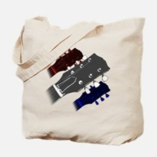 red white and blue headstock Tote Bag