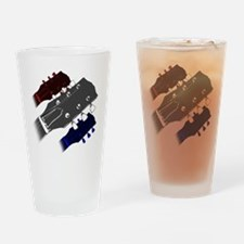 red white and blue headstock Drinking Glass
