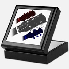 red white and blue headstock Keepsake Box