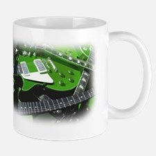 green guitar collection. Mug