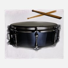 snare and sticks Throw Blanket