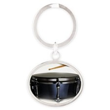 snare and sticks Oval Keychain