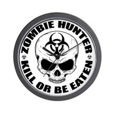 Zombie Hunter 4 Wall Clock