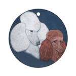 Poodle Pair Ornament (Round)