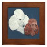 Poodle Pair Framed Tile