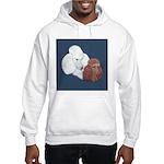 Poodle Pair Hooded Sweatshirt