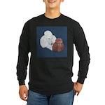 Poodle Pair Long Sleeve Dark T-Shirt