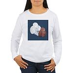 Poodle Pair Women's Long Sleeve T-Shirt