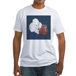 Poodle Pair Fitted T-Shirt