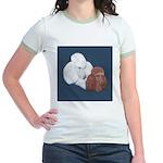 Poodle Pair Jr. Ringer T-Shirt