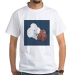 Poodle Pair White T-Shirt