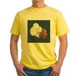 Poodle Pair Yellow T-Shirt