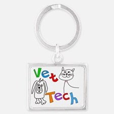 Veterinary Medicine Landscape Keychain