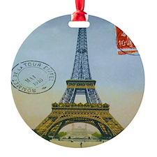 eiffelpostcardshirt Ornament