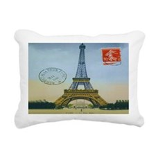 eiffellpostcardaptopskin Rectangular Canvas Pillow
