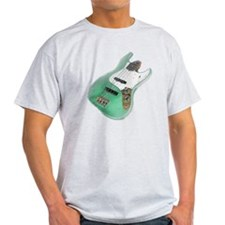 jazz bass distressed green T-Shirt