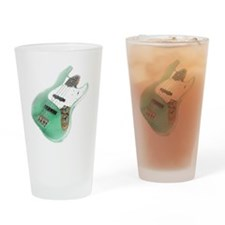 jazz bass distressed green Drinking Glass