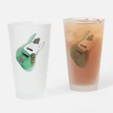 jazz bass distressed green Drinking Glass