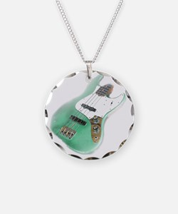 jazz bass distressed green Necklace