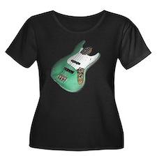 jazz bas Women's Plus Size Dark Scoop Neck T-Shirt