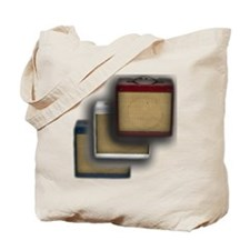 red white blue vintage amps Tote Bag