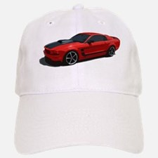 mustang drawing red Baseball Baseball Cap