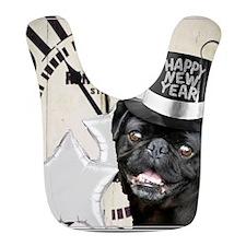New Years Pug Dog Bib