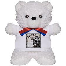 New Years Pug Dog Teddy Bear