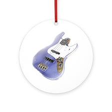 jazz bass distressed purple Round Ornament