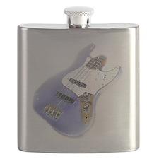 jazz bass distressed purple Flask