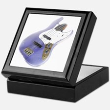 jazz bass distressed purple Keepsake Box