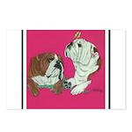 English Bulldog Pair Postcards (Package of 8)