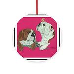 English Bulldog Pair Ornament (Round)