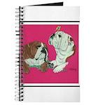 English Bulldog Pair Journal