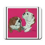 English Bulldog Pair Mousepad
