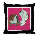 English Bulldog Pair Throw Pillow
