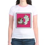 English Bulldog Pair Jr. Ringer T-Shirt