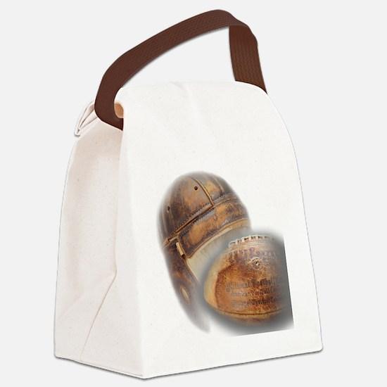 vintage football helmet Canvas Lunch Bag