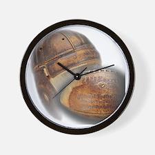vintage football helmet Wall Clock