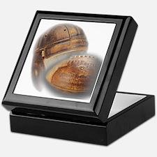 vintage football helmet Keepsake Box