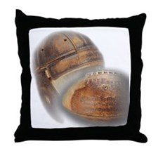vintage football helmet Throw Pillow