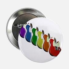"""Rainbow Guitar Tee 2.25"""" Button"""