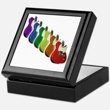 Rainbow Guitar Tee Keepsake Box